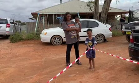"""Sarah Donnelley """"called every hardware store in Broken Hill and bought about four kilometres of caution tape,"""" and unrolled it at each homework drop-off point as a way of showing the kids they were all connected by the school."""