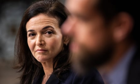 Sheryl Sandberg, COO of Facebook, and Jack Dorsey, CEO of Twitter, testify before a Senate Intelligence Committee hearing on 'foreign influence operations and their use of social media platforms' in September.