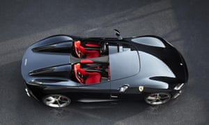 Ferrari's SP2 model, displayed in Maranello, Italy.