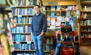 'It felt like a risk worth taking' … Jeff Kinney in his independent bookstore in in Plainville, Massachusetts.