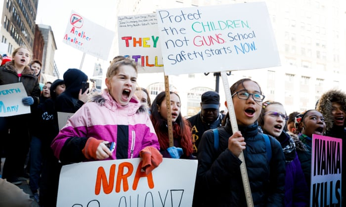 The students called for new gun safety legislation and opposed plans to arm schoolteachers.