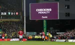 """The only change to VAR will see graphics that currently read """"checking penalty"""" expanded to say, for example, """"checking penalty – possible handball""""."""