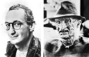 Actor Robert Englund before and after his transformation into Freddy. Over the next 30 years, Nightmare on Elm Street would spawn a succession of movies with Englund remaining in the role.