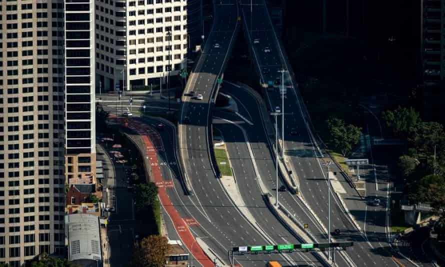 Western Distributor freeway approaches to the Sydney Harbour Bridge