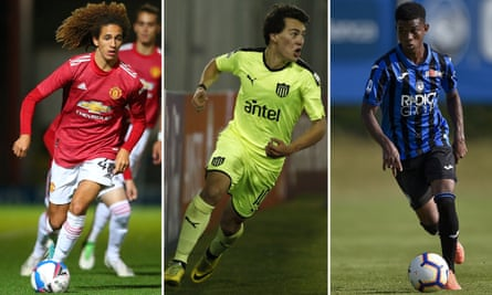 Among the Manchester United signings are (from left): Hannibal; Facundo Pellistri, here in action for Peñarol; and Amad Diallo, pictured playing for Atalanta.