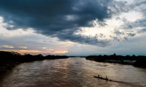 The Arauca River on the border with Venezuela. 'The guerrillas control everything – they are a fact of life,' said one Venezuelan migrant labourer.