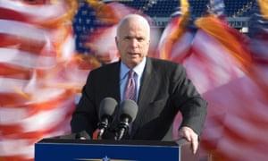 John McCain speaks in Annapolis, Maryland in 2008.