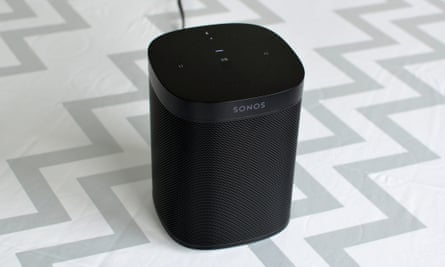 The Sonos One sounds fantastic and has Alexa and Google Assistant.