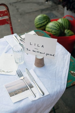 The table is named after Lila: the brilliant friend of the title.