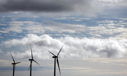 Turbines at Moranchon wind farm in central Spain.