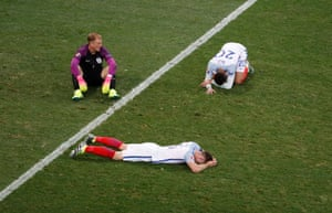 Reality hits Joe Hart, Dele Alli and Gary Cahill at the final whistle as England are sent home by Iceland