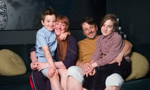 Graham and Jo Atkins-Hughes at home with their two sons