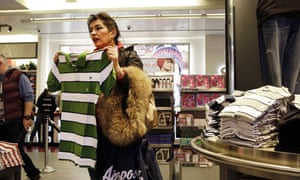 A woman shops in an Aeropostale clothing store, in New York.