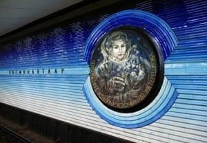 Valentina Tereshkova, the first woman in space, immortalized in Kosmonavtlar station