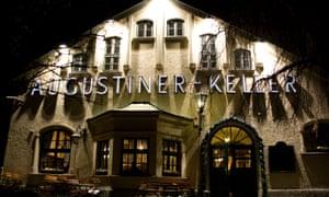 Germany Bavaria Munich, popular Augustiner -Keller restaurant
