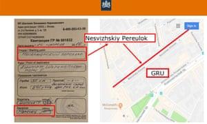 A taxi receipt from near GRU headquarters.
