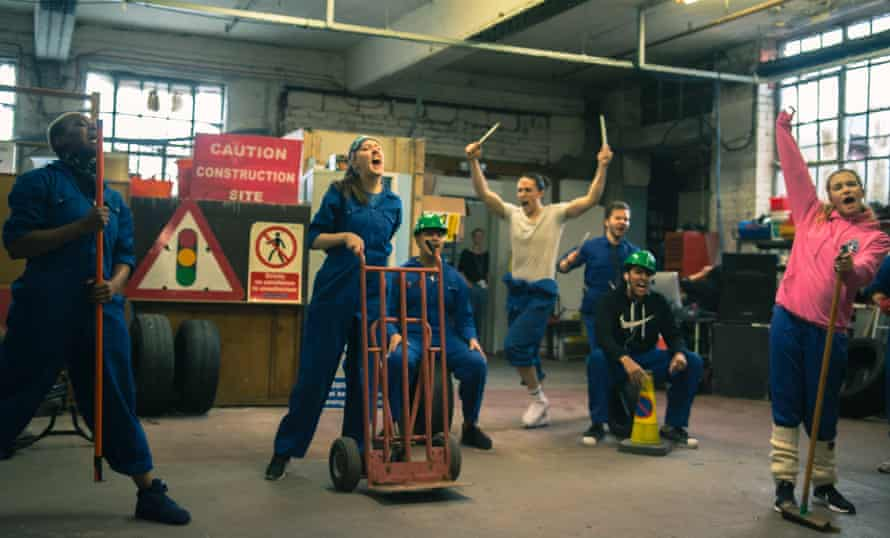 'Crammed with one-liners' … performers use the secret garage location to dramatic effect.