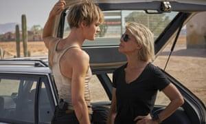 Mackenzie Davis, left, and Linda Hamilton in Terminator: Dark Fate (Kerry Brown/Paramount Pictures via AP)