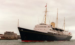 The original Royal Yacht Britannia, now holed up in Leith, Scotland.