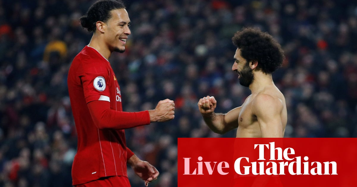 Liverpool 2 0 Manchester United Premier League As It Happened Football The Guardian
