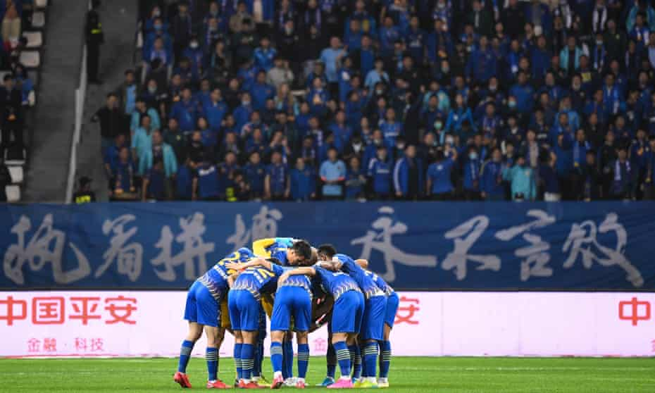 Jiangsu Suning won the 2020 Super League in November last year. They have now gone out of business.