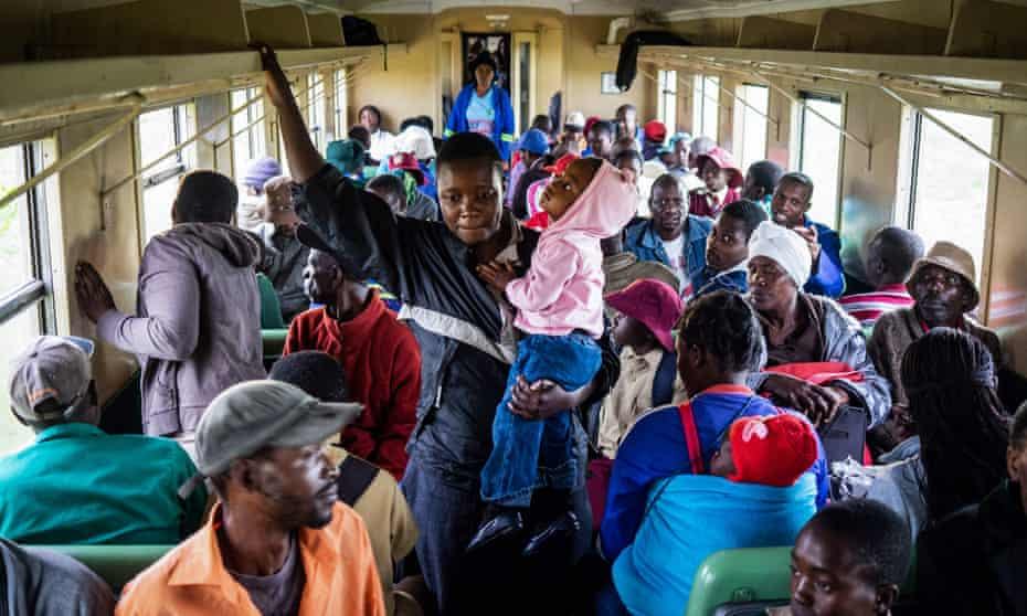 Commuters travel to Bulawayo