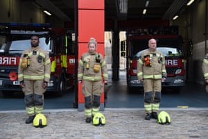 Dockhead fire station staff stand silent in London