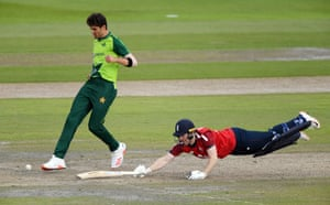 Shaheen attempts to run out Morgan.