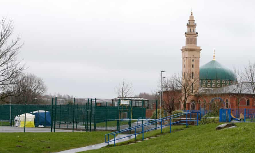 A children's play area in Rochdale where Jalal Uddin was found injured on Thursday evening.