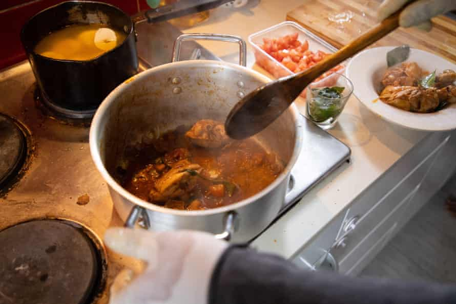 Cooking at Curry House, Greenacre