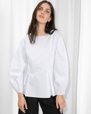 Puff-leeve peplum blouse by & Other Stories