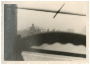 A driver from Stuttgart took this picture through his windscreen on the Lithuanian frontier in June 1941