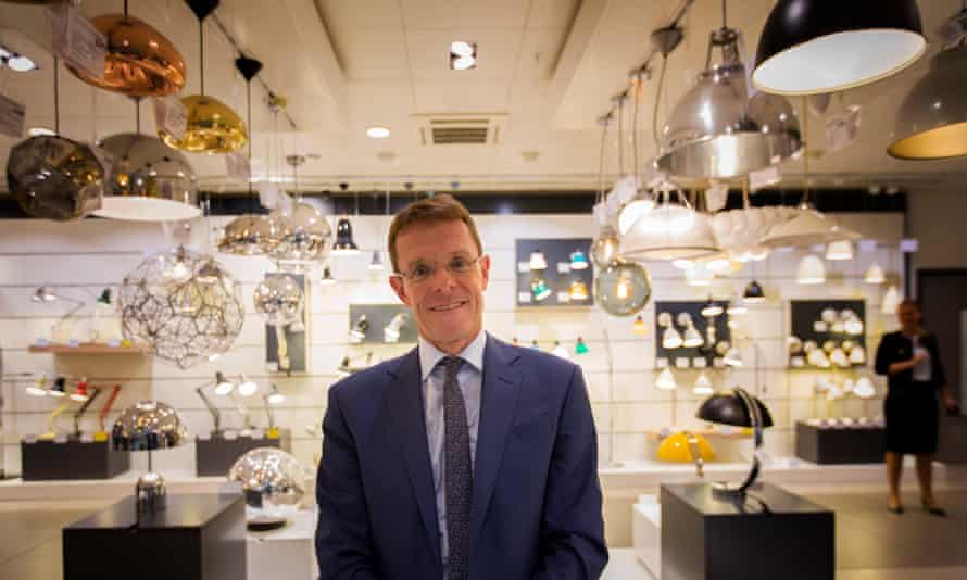 Andy Street, MD of John Lewis, in the Oxford Street branch