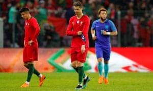 Cristiano Ronaldo and his Portugal team-mates endured a dismal night in Geneva, going in 3-0 down at half-time and never threatening a comeback.