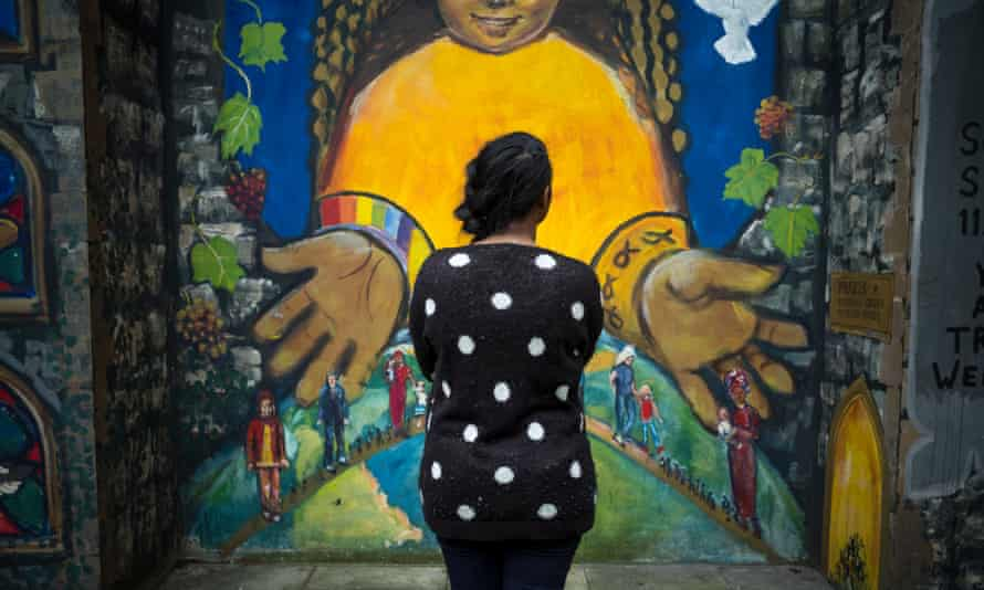 A trafficking survivor at the Praxis headquarters in Bethnal Green, east London.