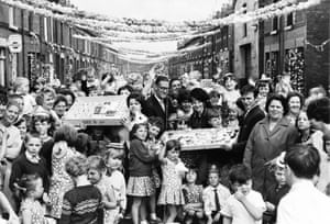 A street party in Leta Street, near Goodison Park in Liverpool, on World Cup final day