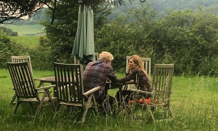 The leaked photo of Boris Johnson and Carrie Symonds.