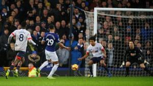 Calvert-Lewin scores Everton's second goal.