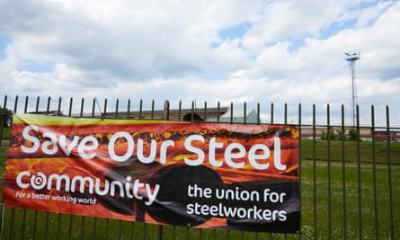 SCUNTHORPE, 22 May 2019 - The British Steel plant at Scunthorpe, Lincolnshire on the the day the company was placed in compulsory liquidation, putting 5,000 jobs at risk and endangering 20,000 in the supply chain after a breakdown in rescue talks between the government and the company's owner, Greybull. Christopher Thomond for The Guardian.