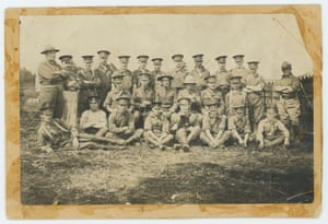 Photo of Winnie w Regiment, illustration of Winnie with the regiment.