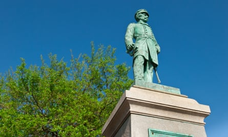 Raphael Semmes, Rear Admiral of Confederate States Navy and Commander of the CSS Alabama, statue in Mobile, Alabama, USA