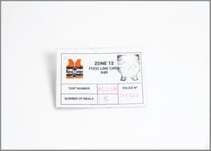 Food distribution card