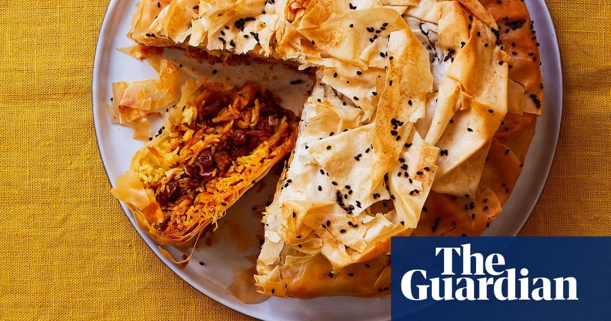 Thomasina Miers' Easter recipe for spiced lamb and saffron rice pastilla pie