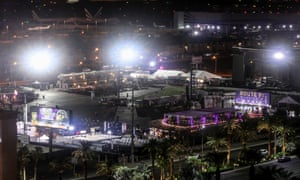 An outdoor venue from across the Mandalay Bay Hotel where the shooting occurred.