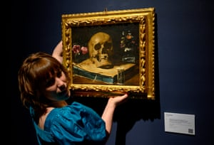 New York, USChristie's head of sales for Old Masters takes Giovanni Francesco Barbieri's Guercino off the wall during a press preview for upcoming auctions.