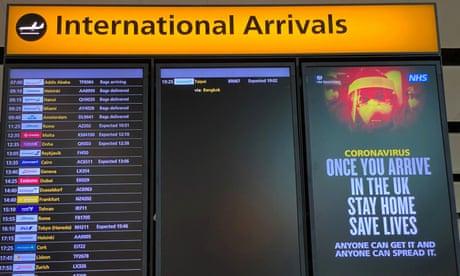 Air passenger quarantine plan makes no sense, UK adviser says