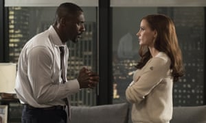 Idris Elba and Jessica Chastain in Molly's Game.