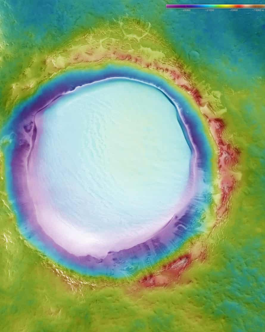 Colour-coded topographic view