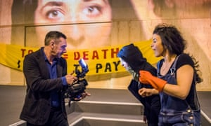 Galvanising stuff … Paul Mason films Lara Sawalha and Sirine Saba in Why It's Kicking Off Everywhere.