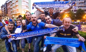Real Oviedo celebrate their long overdue return from the Spanish third tier with a victory over Cádiz.